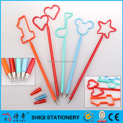 heart or star or animal craft PET cute ball pen