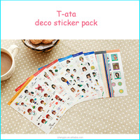 T-ata Deco Sticker Pack New Style Free Sample Printed Customized Stickers Design,Label Stickers