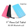 With case cover Phone Call Tablets 7 Inch Dual Core Android 4.4 Wifi GPS Bluetooth 3G Tablet