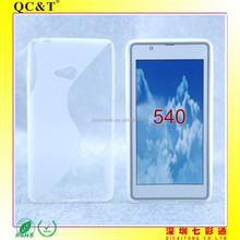 Wholesale Muti-colors Soft TPU S line Cellphone Case Cover For Nokia Lumia 540