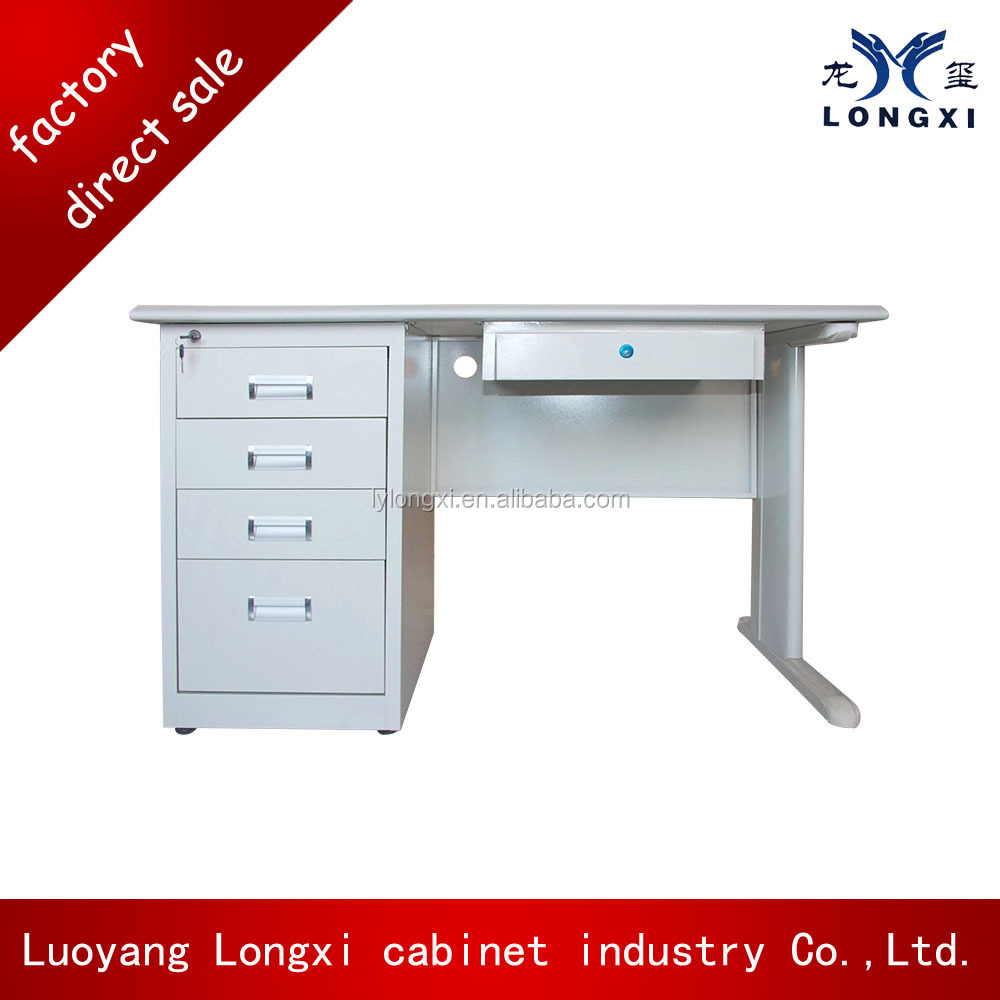 small laptop desk with 3 drawers desks white metal office computer