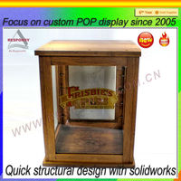 Pos rock collection display case dispaly unit for rock collection display case