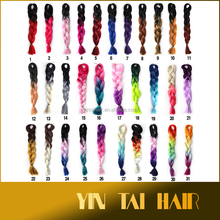 31 colors Wholesale 2 tone/3 tone/4 tone colored jumbo braid ombre kanekalon synthetic braiding hair synthetic braids