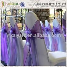 Bulk sale organza material cheap chair covers chair sashes