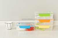 transparent plastic lunch box/korean lunch box/clear plastic lunch boxes