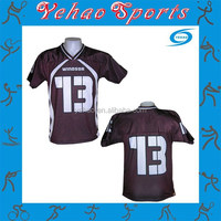 100% polyester authentic cheap flag football jerseys