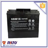 Powerful Gasoline generator 6DM18 12V 18Ah maintance free sealed lead acid battery