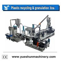 Single screw plastic recycling pelletizing machine