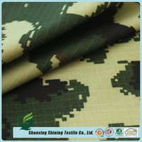 new style woven camouflage army uniform cotton printed ripstop fabric