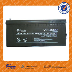 Solar deep cycle battery 12v200ah big size storage lead acid battery rechargable