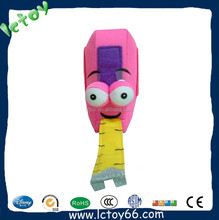 Promotion pink flexible rules plush soft toys for blind children