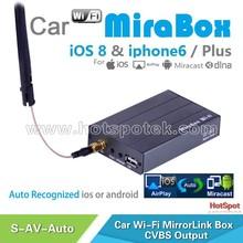 Auto switch OEM/ODM Wireless car wifi mirrorlink mirabox 3g wifi car stereo