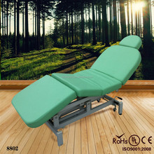 2014 factory wholesael pu leather folding spa facial table bed electric folding spa massage table bed (KZM-8802)
