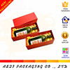 full red color printed luxury packaging hard paper cardboard box for wine