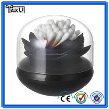 Hot sale lotus cotton swab box/lotus cotton bud holder base/lotus toothpicks holder