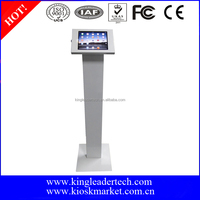 Rugged metal kiosk stand for ipad