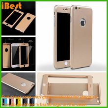 iBest Anti- dust Full Protective Cover Case for iPhone 6 with tempered galss screen protector,for iphone 6s full cover case