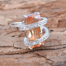new nice noble Topaz CZ 925 sterling silver jewelry ring ,wholesale jewelry