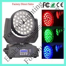 36x12w rgbwa 5in1 leds bottom price best selling promotional 36 12w led moving head wash light