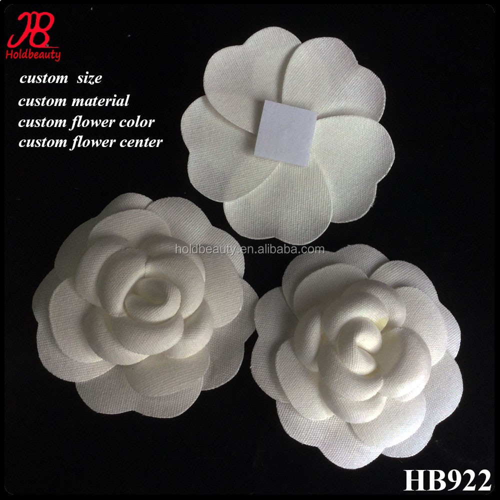 Handmade Vintage White Cotton Fabric Camellia Flower Buy Fabric