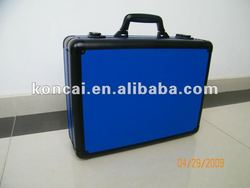 High-end Documents Carry Bag,laptop case computer notebook case with Blue PP laminate panel and big Black aluminum frame