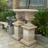Beautiful couple stone flower pot for hot sale