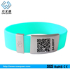 fashionable QR Code Engraved Promotional Rubber Band