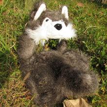 Fox Faux Fur Full Hood Animal Hat,Scarf,Mitten King Clow Beanie Hat