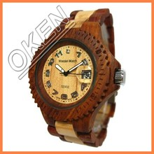 Earth friendly wooden watches equipped with date calendar for an everyday style