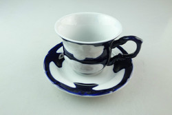 stock wholesale porcelain coffee tea set tableware cup and saucer with blue glaze