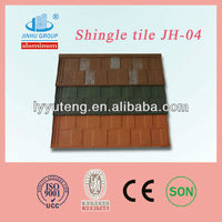 Wooden house Roof Materials Steel shingles color stone coated Roofing Tile