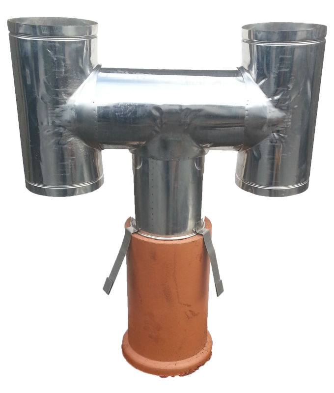 Ce terracotta chimney cowl clay cap stainless