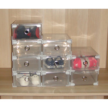 transparent plastic shoes storage case