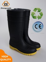 PVC Rain Boots/Gumboots, Waterproof Walking Shoes Cover, Safety Boots for Men