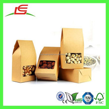 Q1200 China Wholesale Kraft Paper Snack Container, Nuts Package Box, Snack Box Bag