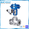 pneumatic two way water flow rate control valve