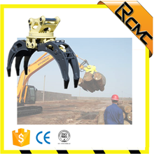 Good quality and profession Customized Rotary hydraulic log grapple for excavator
