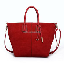 Popular export 2015 fashion bag red and black tote bag