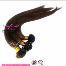 Hot selling keratin fusion ombre i tip hair extension for cheap
