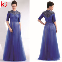 Unique design half sleeve grecian style mother of the bride dress