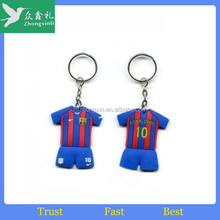 Top quality 2d soft pvc rubber beaded animal keychains