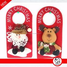 2015 red christmas xmas doorknob ornament with santa snowman reindeer