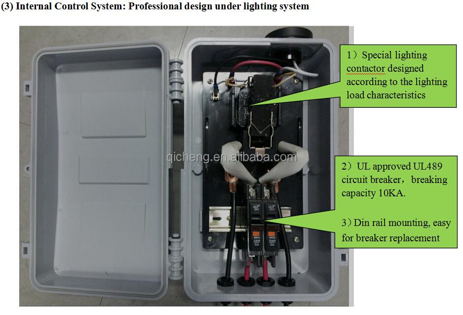 Cjk-100 Outdoor Lighting Control Box Lighting Contactor Led Public ...