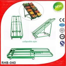Green metal folding fruit vegetables shelf
