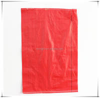Customized Red PP Woven Bags Reusable Custom Packaging Bags for Coal , Malt