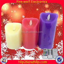 Fashion Candle Manufacturer Flameless Candles With Realistic Flame