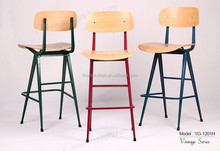 Triumph retro cafe medium bar stool , factory stool big , plywood coffee chair