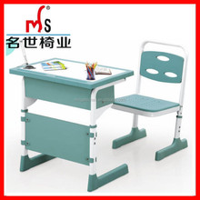 Popular and metal frame school desk and chair of elementary school desk and chair furniture