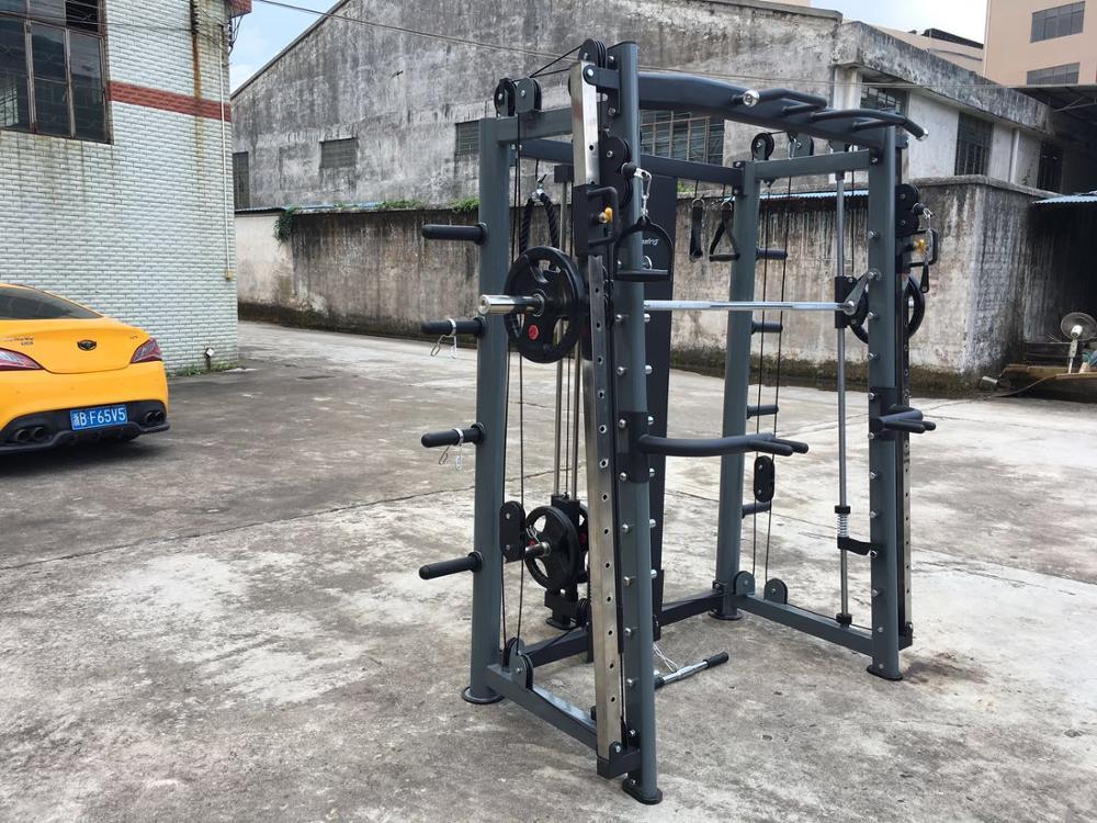 Cremalheira do poder da aptidão do treinamento de força com a máquina do smith da multi função do acessório AMA-8802A