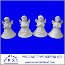 popular white porcelain small angel figurines for sale